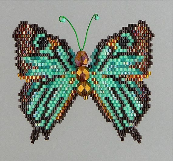 Black veined hairstreak butterfly pattern and tutorial for Tutorial papillon