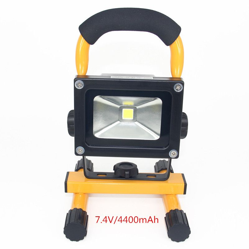 Buyable Pin 10w Led Flood Light Rechargeable Ip65 Waterproof Camping Lamp Spotlight Led Outdoor Street Wall Lamps Ext Camping Lamp Led Flood Lights Led Flood