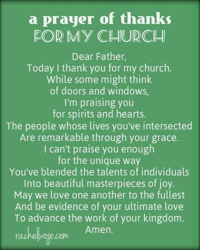 A Prayer of Thanks for My Church   Faith for all   Prayer of