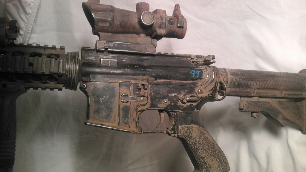CA m4 custom paint job left body Custom paint jobs, Tactical - jobs that are left