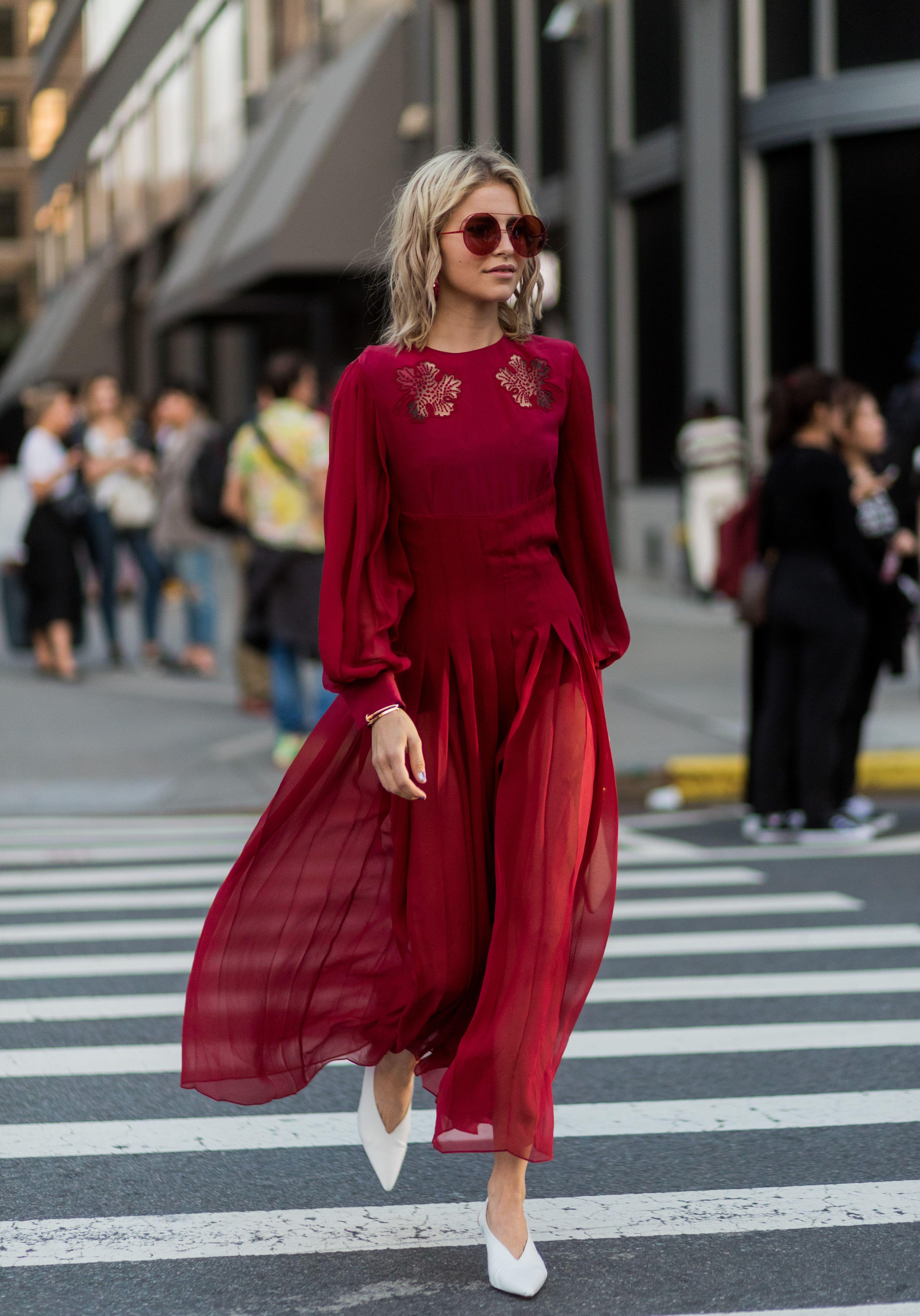aca70dd5f6c The Best Street Style At New York Fashion Week Spring Summer 2018