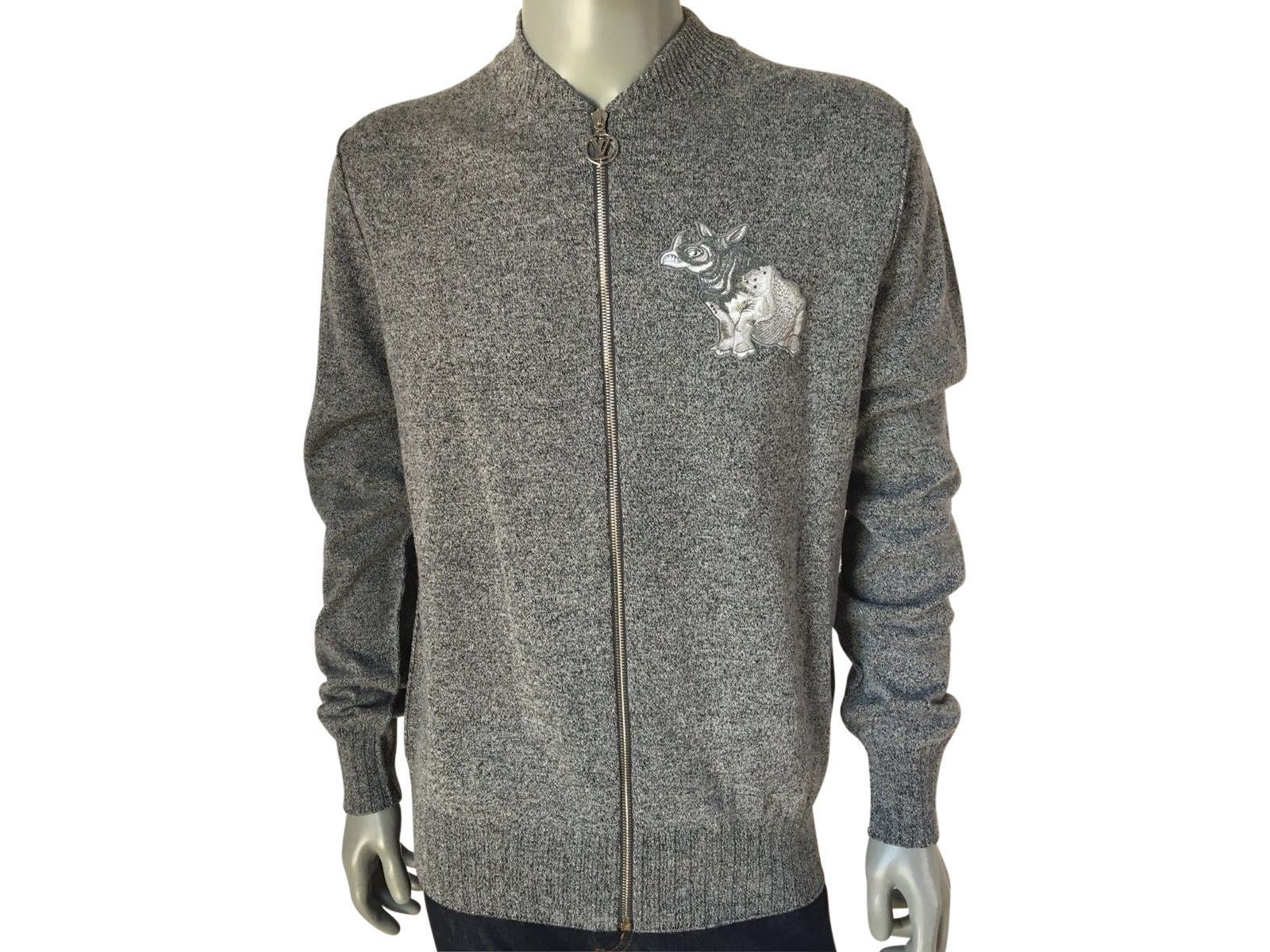 b5aef4b728b3 Louis Vuitton Chapman Rhinoceros Patch Sweater