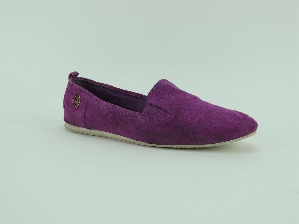 17165008ea7a4 Michael Kors Women's Merritt Slip-On Loafers Pomegranate Suede Flats ...