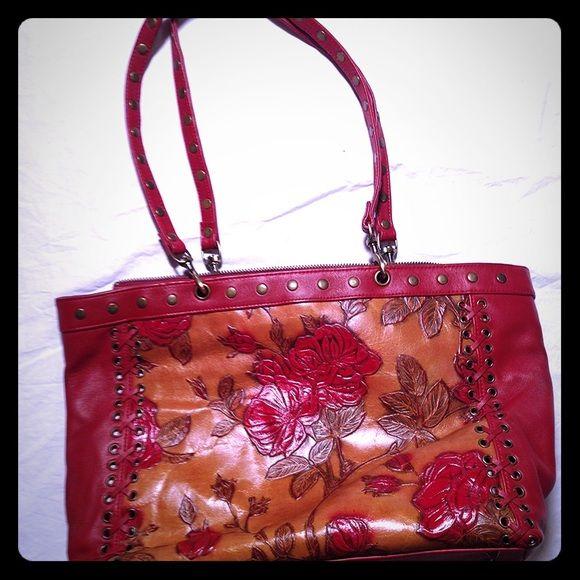 Isabella Fiore Floral Leather Handbag Isabella Fiore floral leather handbag. Like new! Isabella Fiore Bags Totes