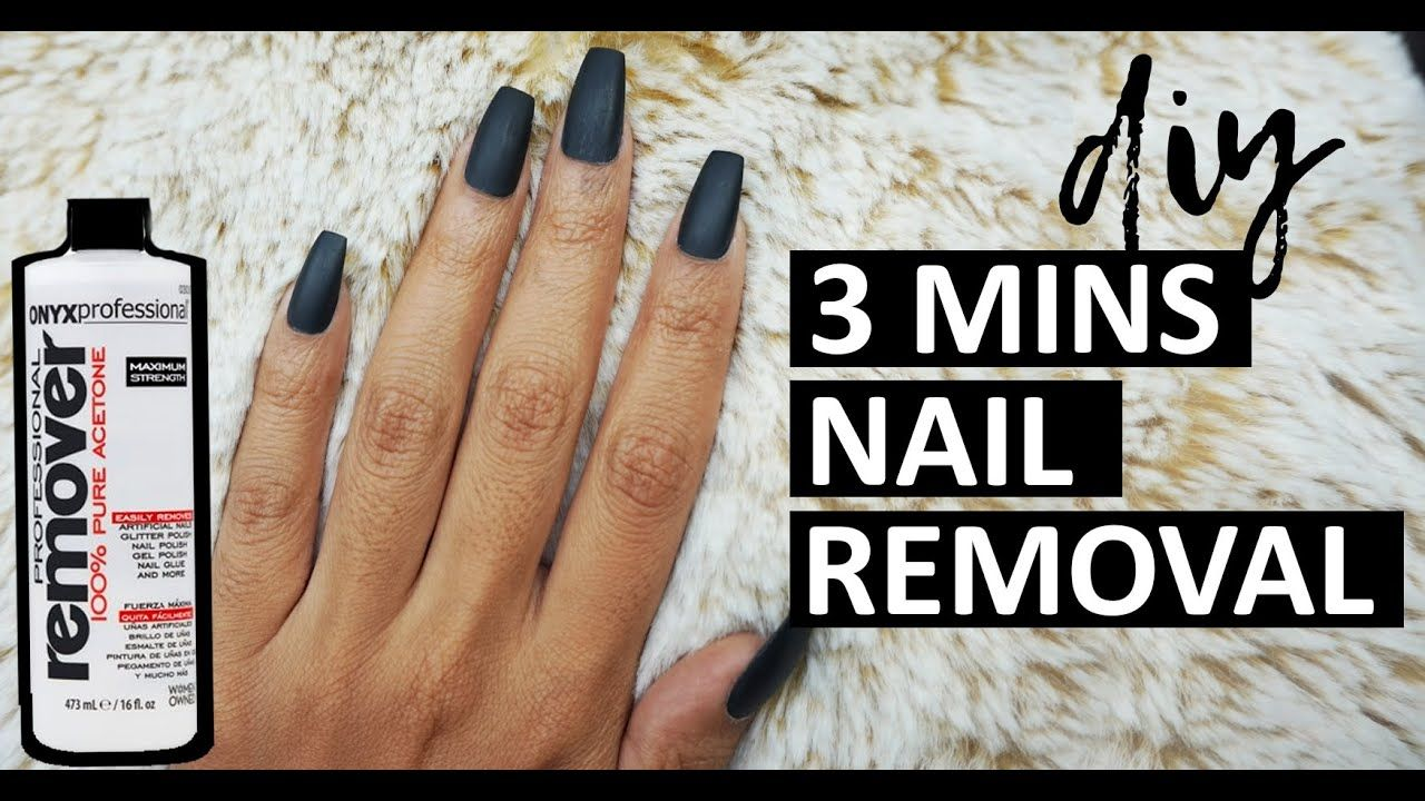 How To Remove Fake Nails At Home In 3 Mins Fastest Way To Remove Fake Nails Gel Polish At H Remove Fake Nails Remove Acrylic Nails Take Off Acrylic Nails