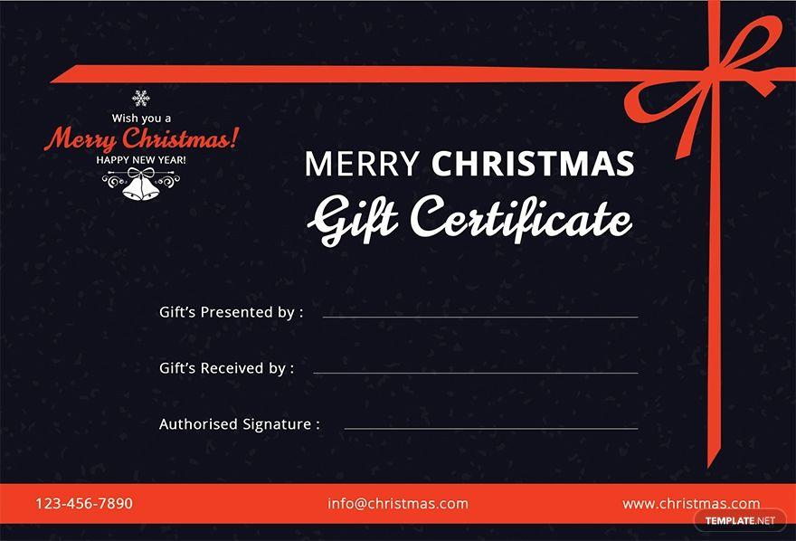 Free Merry Christmas Gift Certificate Template Word Doc Psd Apple Mac Pages Publisher Gift Certificate Template Word Christmas Gift Certificate Merry Christmas Gifts
