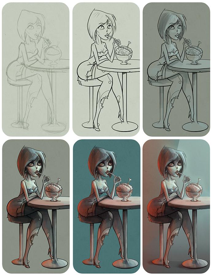 Illustration process - by Abel Tebar -  www.abeltebart.com