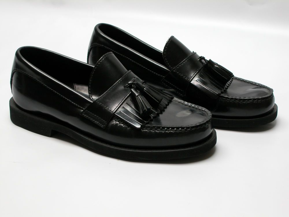 Mens black tassel dress shoes