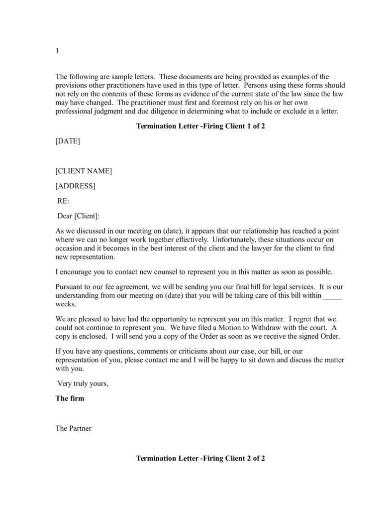 Letter Firing Business Tour Report Format Termination Templates