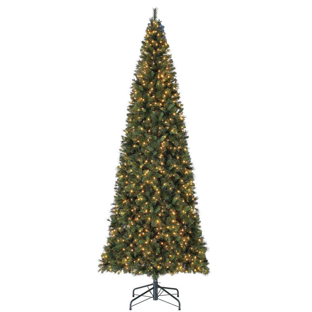 Home Heritage 16 Foot Albany Pvc Hard Needle Artificial Pre Lit Christmas Led Color Changing Lights Slim Artificial Christmas Trees Artificial Christmas Tree