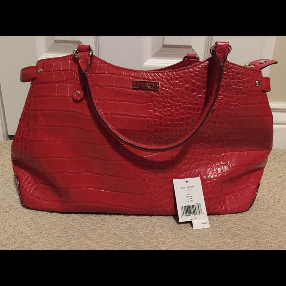 Kate Spade Stevie Carlsbad leather handbag The bag is very big and elegant and is a hot color! kate spade Bags Satchels