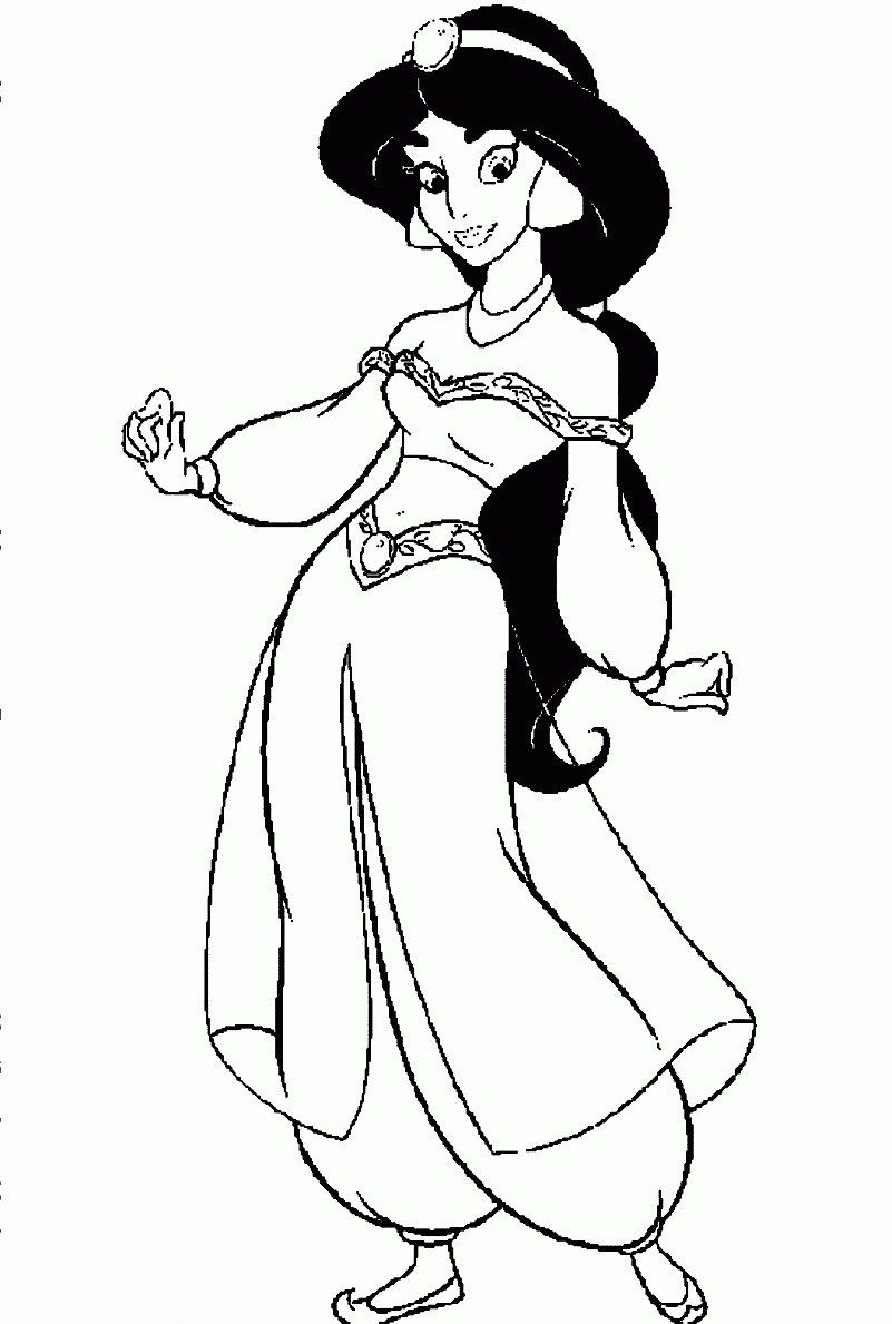 Disney Princess Coloring Page Cartoon Printable Disney