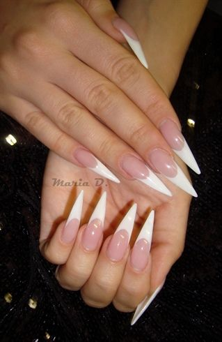 French Stiletto Nail Art Gallery French Stiletto Nails French
