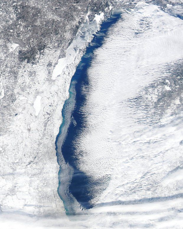 Ice cover on the Great Lakes is rapidly growing due to