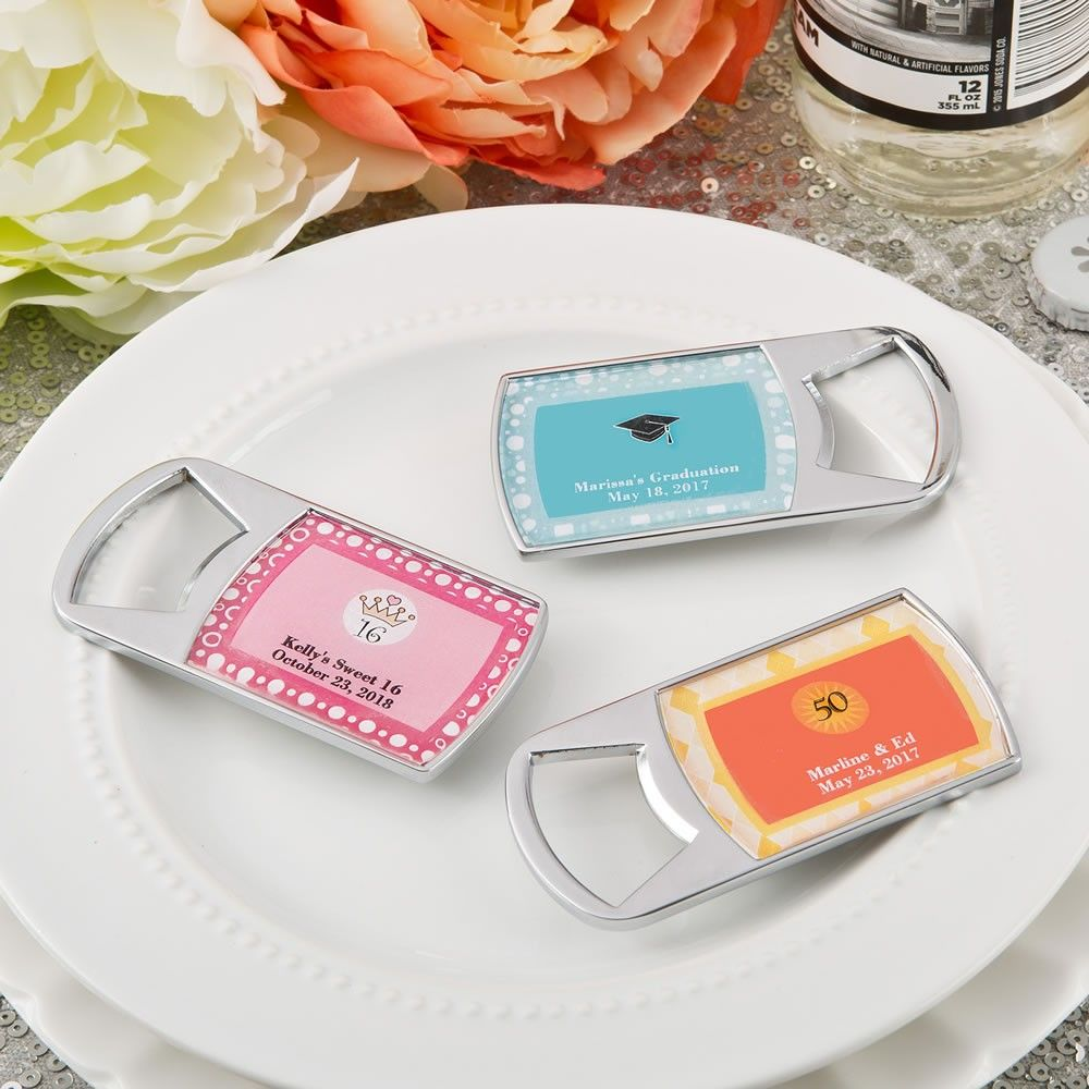 Personalized Birthday Bottle Opener Favors | First Birthday ...
