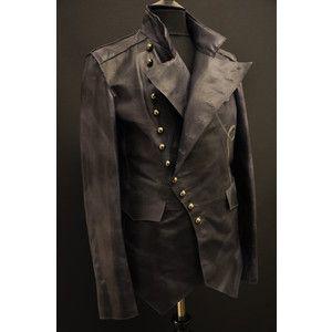 www.steampunk/men jacket | LEATHER STEAMPUNK ROCK MILITARY MENS ...