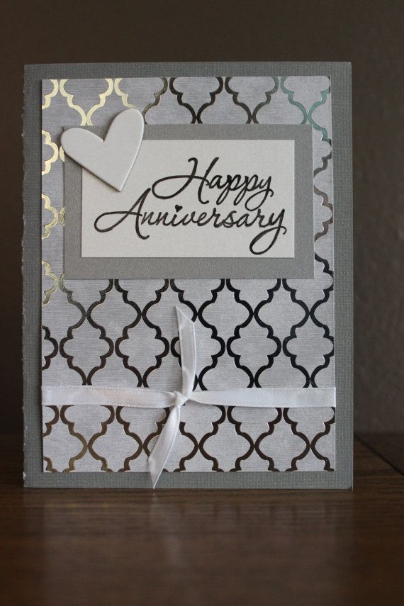 Items Similar To Silver Anniversary Card On Etsy Anniversary Cards Handmade Cricut Anniversary Card Anniversaries Cards