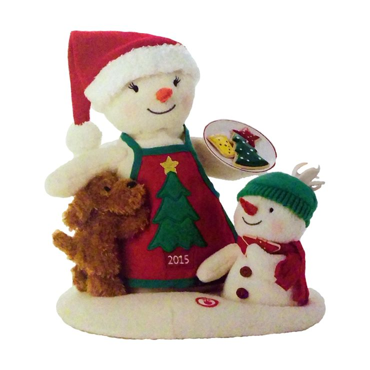 4100326b05d21 2015 Time For Cookies Musical Snowman Techno Plush - Hooked on Hallmark  Ornaments