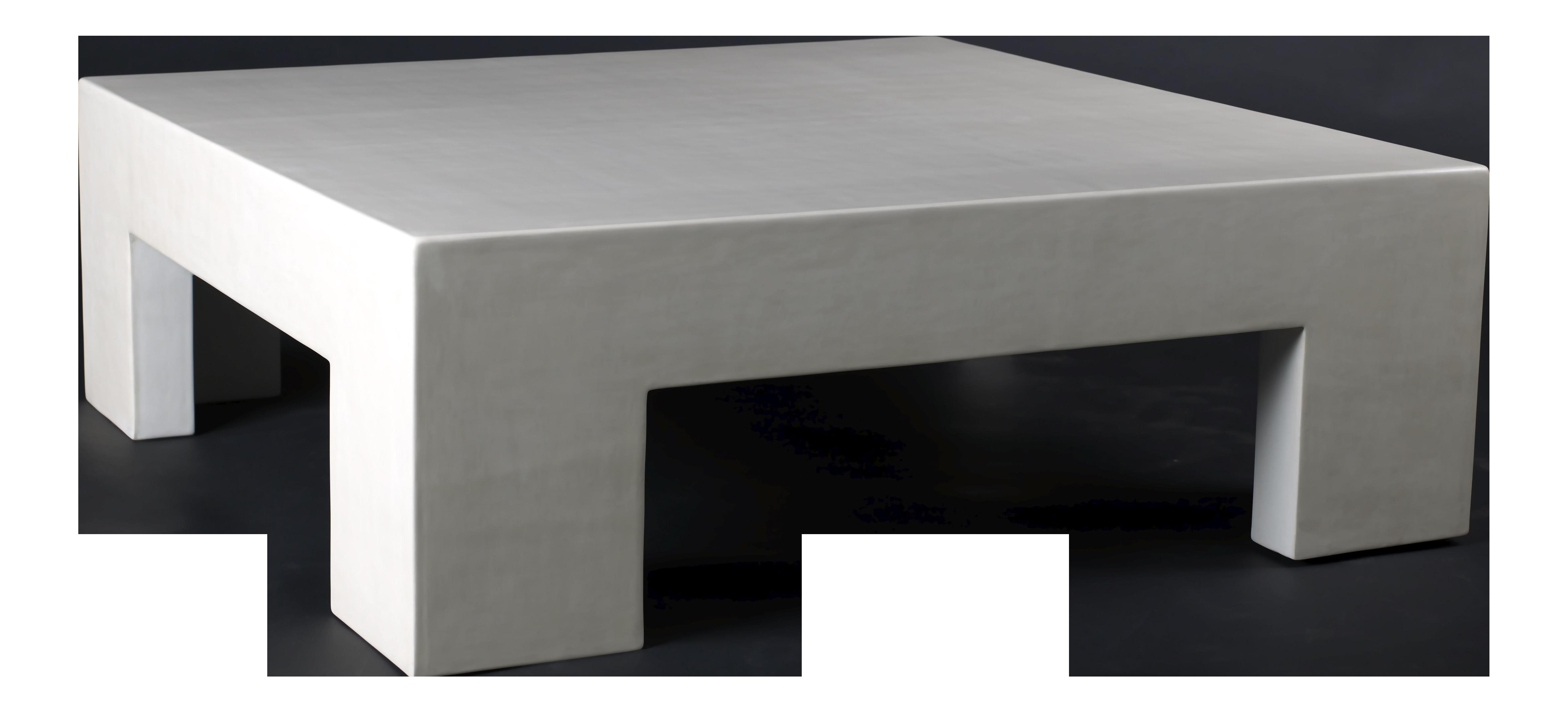 Low Square Table Cream Lacquer On Decaso Com Square Tables
