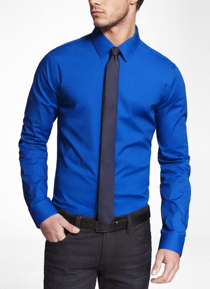 Regis monochromatic tie and shirt darker tie nb for Express shirt and tie