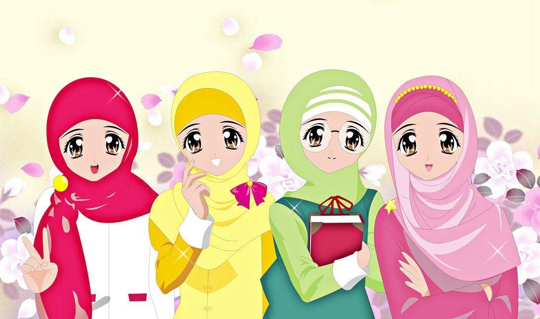 Wallpaper Gambar Kartun Muslimah Keren Terbaru Deloiz Wallpaper In