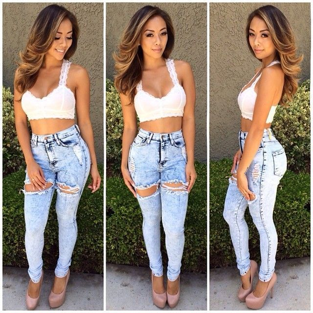 high waisted jeans tumblr - Google Search