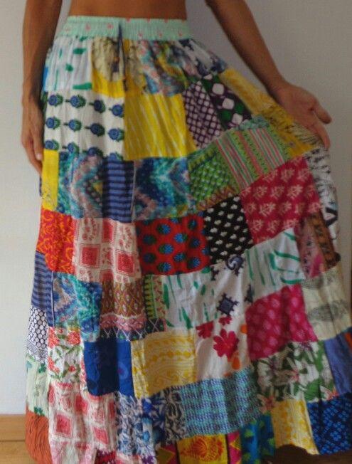ffd0ca85d falda #patchwork | Oh so pretty skirts | Skirts, Tie dye skirt, Tie Dye