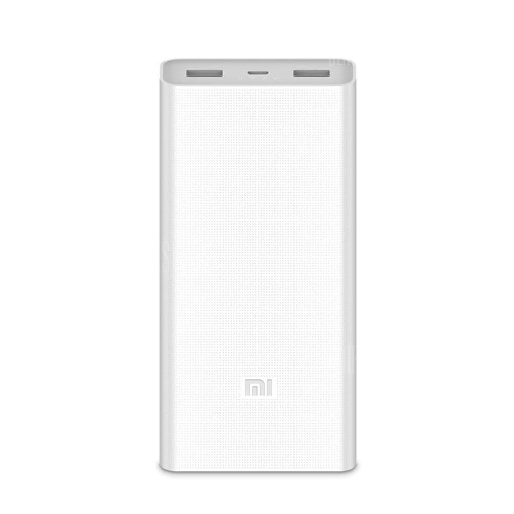 Original Xiaomi Mobile Power Bank 2c 20000mah Dual Usb Bi Mi Powerbank Ports Directional Quick Charge 1819 Chinatech