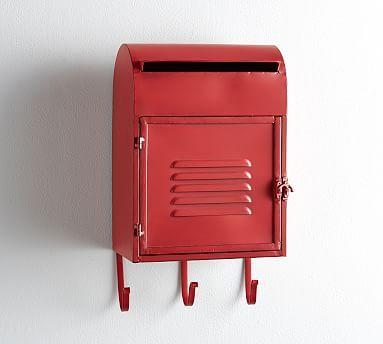 Madison Mailbox Red Pottery Barn Large Storage Baskets Black Mailbox