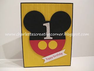 Charlette S Creative Corner Mickey 1st Birthday 1st Birthday Cards Mickey 1st Birthdays Birthday Cards For Boys