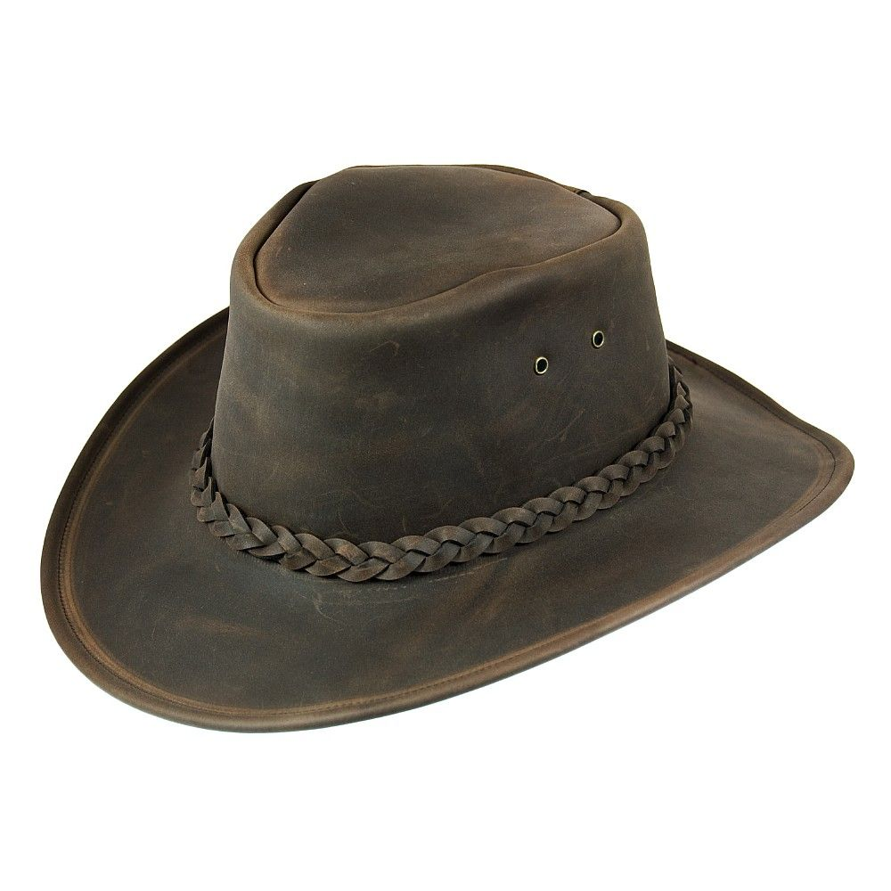 3802cb438 Jaxon & James Crushable Leather Outback Hat - Brown | guns | Jaxon ...