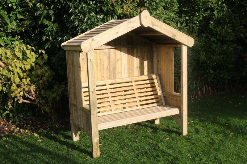 Cottage Arbour Seats Three Wooden Garden Bench In 2020 Wooden Garden Benches Wooden Garden Wooden Garden Furniture