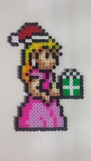 Christmas Princess Peach Perler Bead Christmas