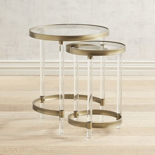 Crafted Of Clear Acrylic Our Nesting Tables Have An Airy Quality