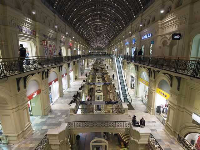 The GUM shopping center, Moscow by chuha, via Flickr