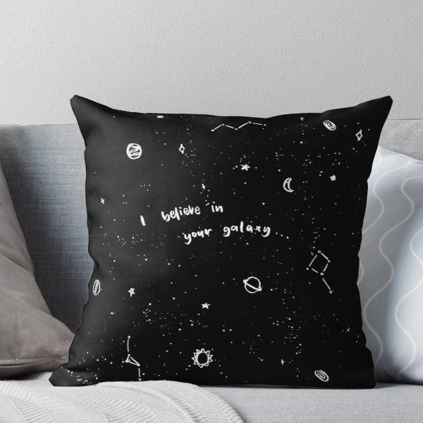 'BTS - Galaxy (ARMY)' Throw Pillow by elysianarts