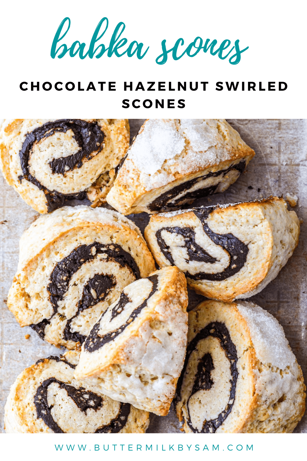Babka Style Scones Chocolate Hazelnut Buttermilk By Sam Recipe In 2020 Chocolate Hazelnut Scones Sweet Recipes Desserts