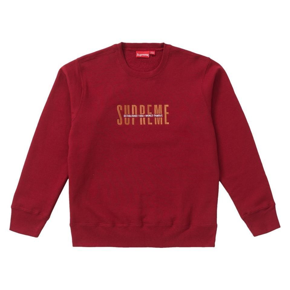 Supreme Tops World Famous Crew Sweatshirt Hoodie Red Size 8 M New Tradesy In 2021 Sweatshirts Sweatshirts Hoodie Crew Sweatshirts [ 960 x 959 Pixel ]