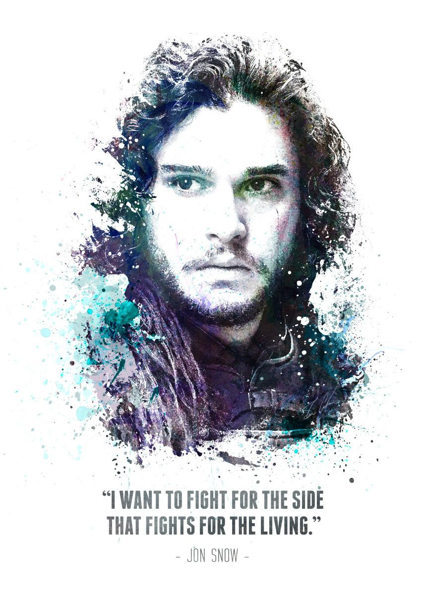 Displate Poster Legendary Jon Snow from the HBO show Game of Thrones. jon #snow… | Displate thumbnail