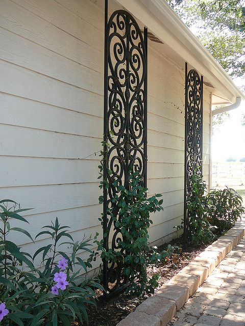 Faux Wrought Iron Custom Lattice Iron Trellis Modern Trellis