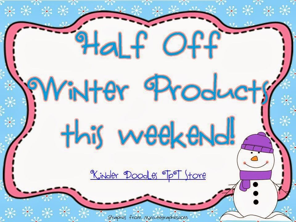 Kinder Doodles: 1/2 Off Sale this weekend! | Kindergarten Math ...