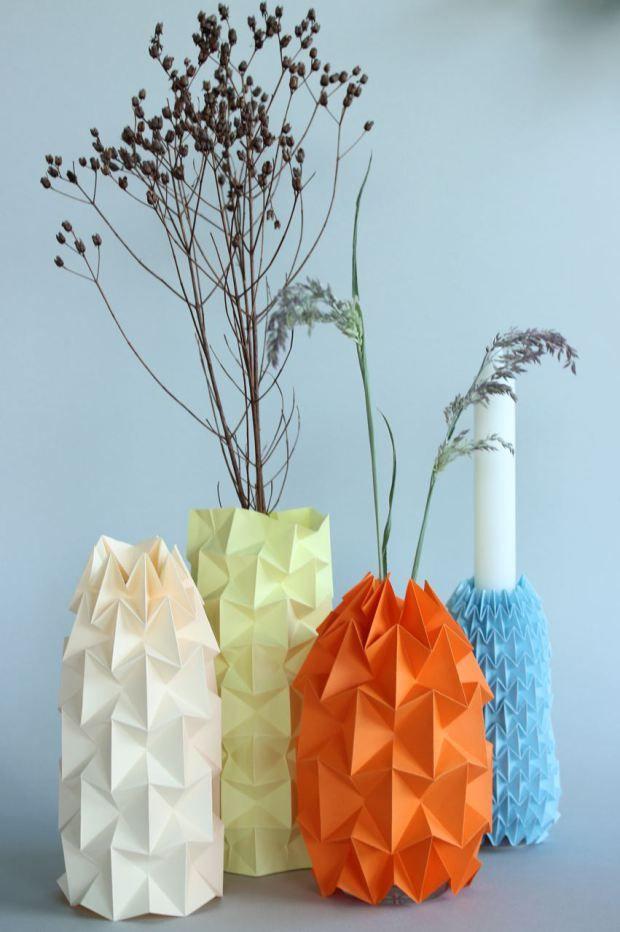 Diy Gefaltete Magic Ball Vasen Fr Den Frhling Origami Craft