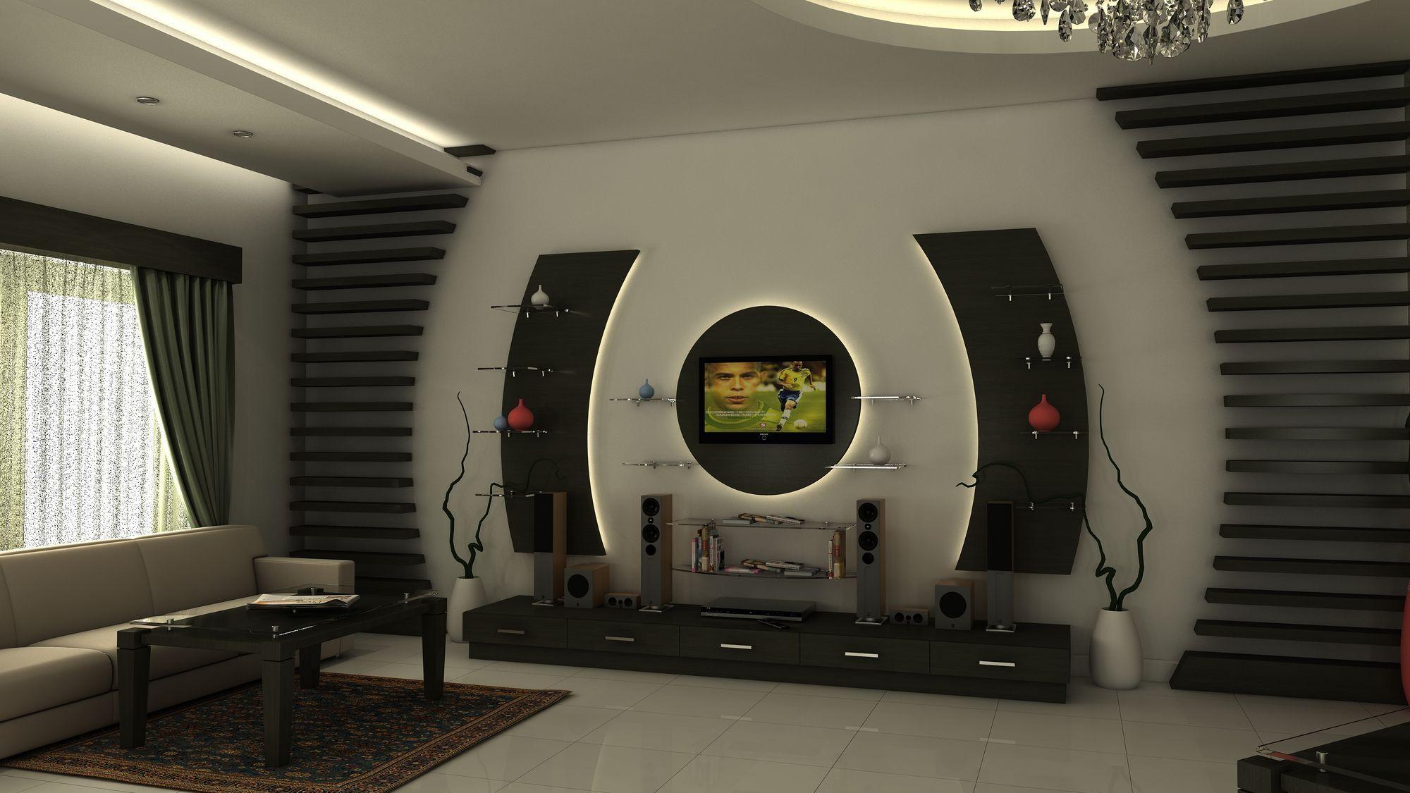 Antique Interior Design For Tv Showcase Classic House Design Tv