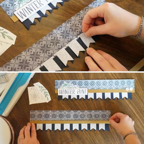 Add Some Edge to Your Projects with this Fun Scrapbook Border #scrapbook