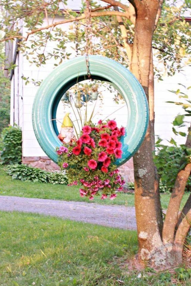 Bahçe Dekorasyon Örnekleri #plantersflowers