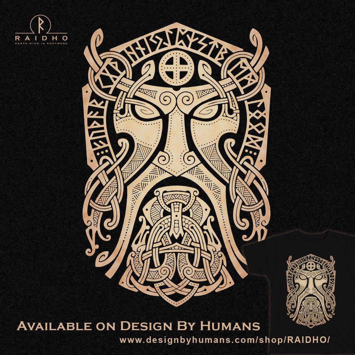 Thorgodmask Knotwork T Shirt By Raidho Artesanias