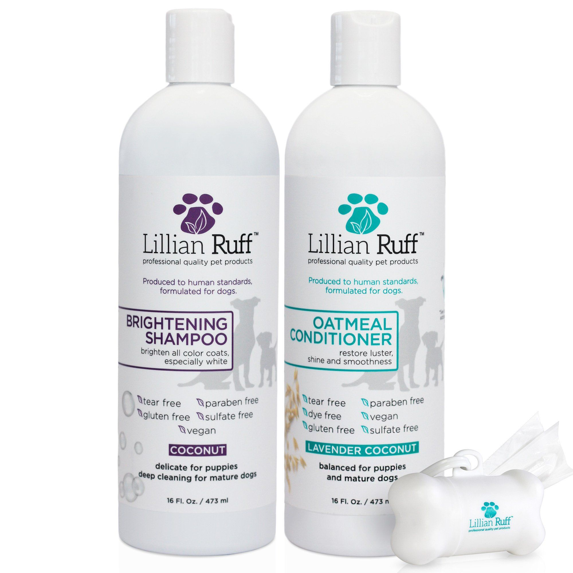 Lillian Ruff Dog Shampoo Conditioner Set Coconut Brightening Shampoo And Soothing Lavender Coconut Oatme Dog Shampoo Brightening Shampoo Paraben Free Products