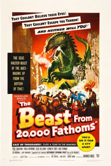 1953 Horror Movie Poster The Beast from 20000 Fathoms