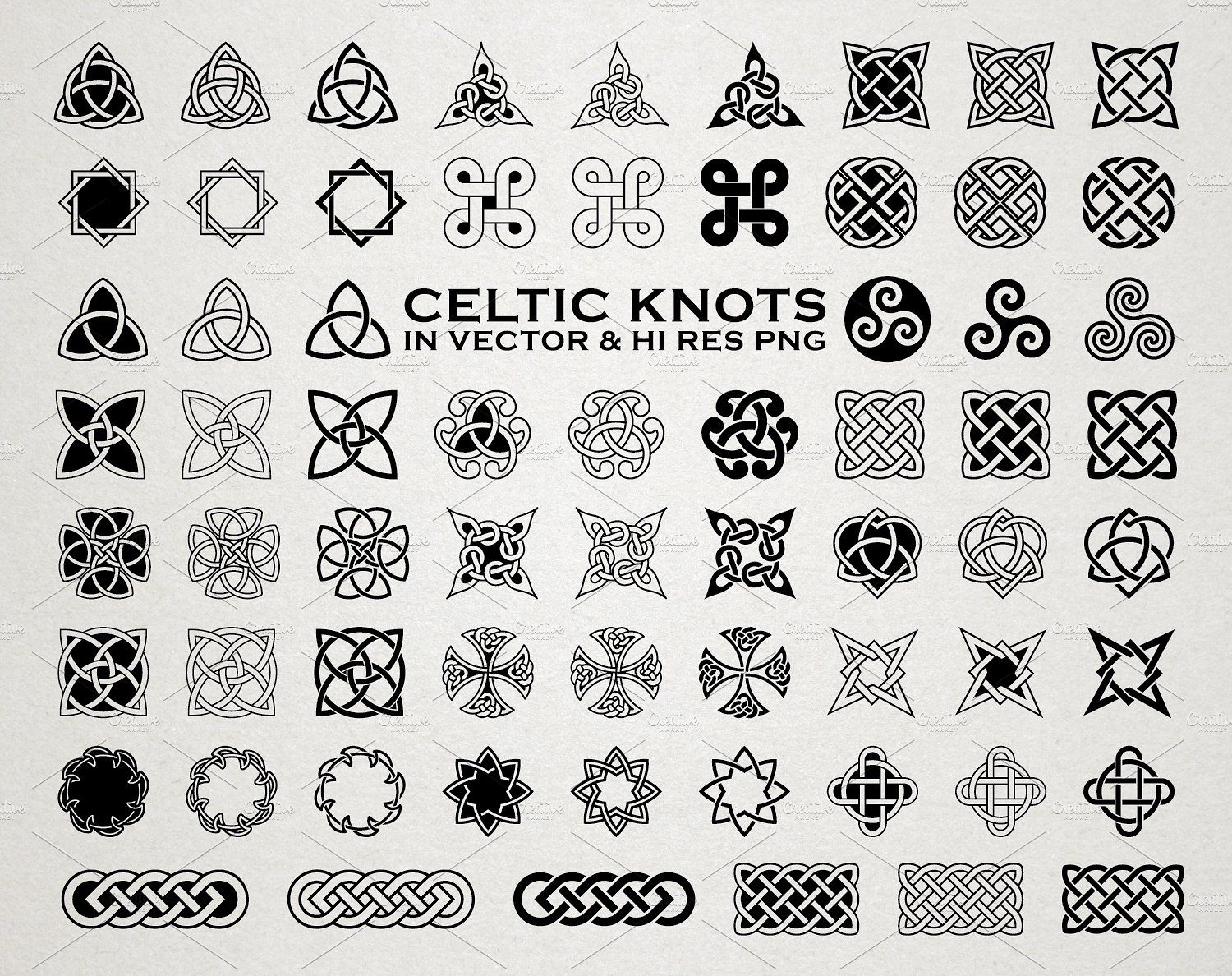 Download Celtic Knots & Ornaments Vector Pack by Seaquint on ...