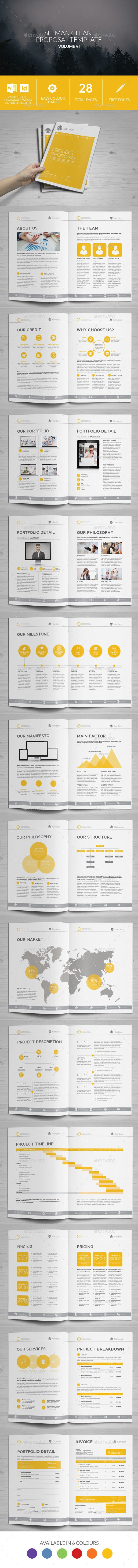 Sleman Clean Proposal Template Volume   Proposal Templates